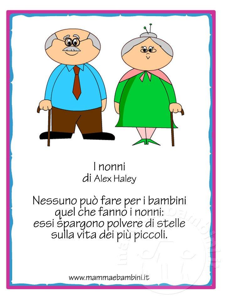 Favoloso Poesie Sui Nonni Scuola Primaria IZ07 » Regardsdefemmes AI32