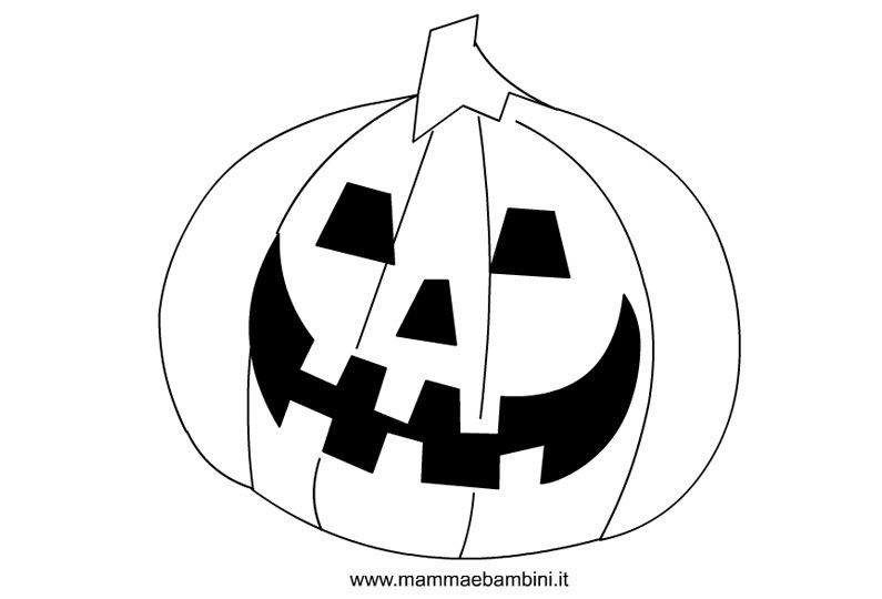 Disegni per Halloween da colorare, la zucca