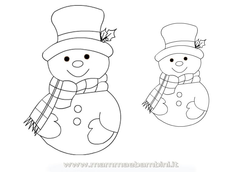 Natale sagome per tanti lavoretti mamma e bambini - Pupazzo di neve pagine da colorare ...