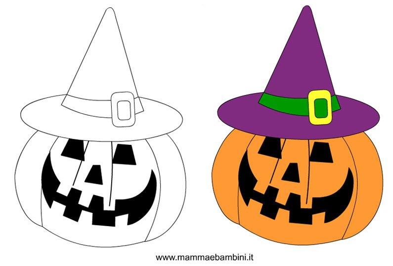 disegni da colorare e ritagliare per halloween