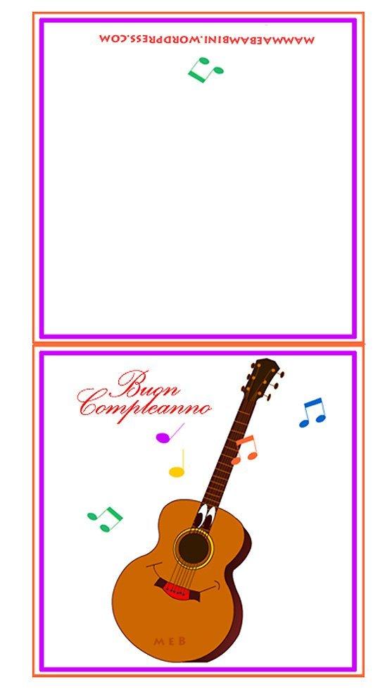 Biglietti da stampare pagina 29 di 34 mamma e bambini - Pagina da colorare per chitarra ...