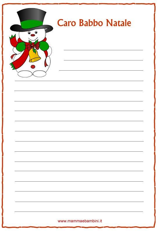 Letterine di Natale da stampare n.2