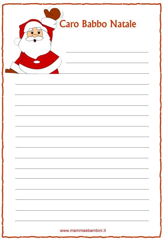abbastanza Letterine di Natale da stampare n.1 - Mamma e Bambini QW89