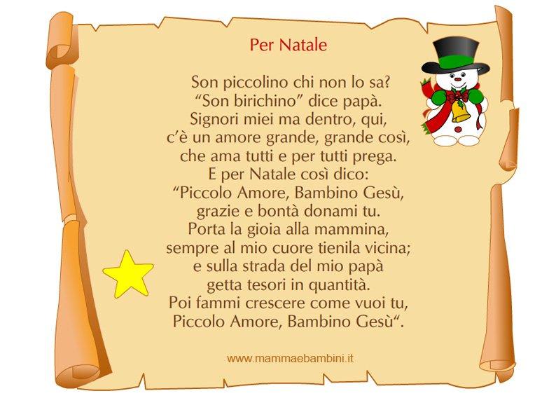 Amato Tante poesie di Natale da stampare con cornice - Mamma e Bambini JD88