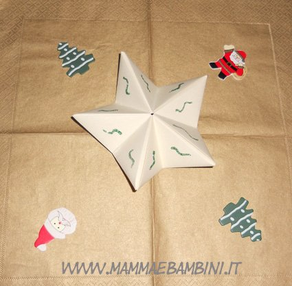 Stella di Natale, origami