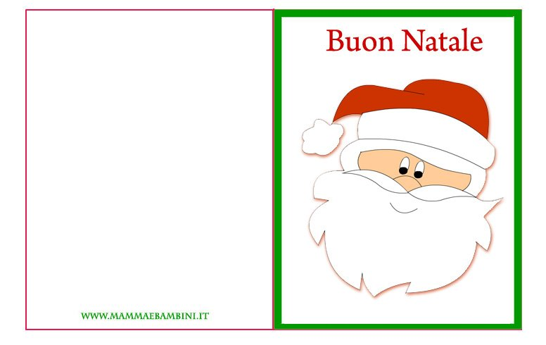 Ben noto Biglietto auguri di Natale n.12 da stampare - Mamma e Bambini LW67
