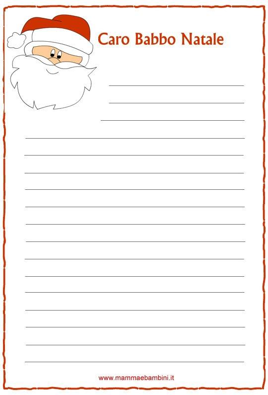 Letterina di Natale n.3 da stampare