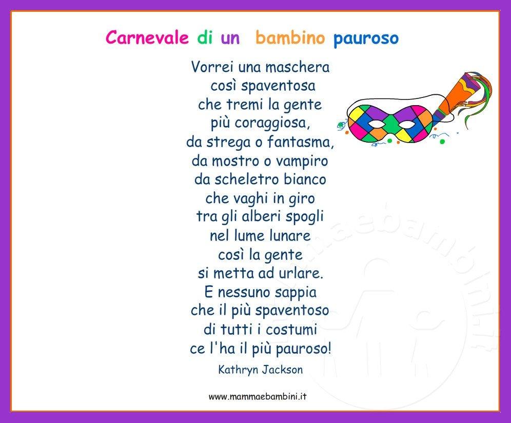 Assez Tante poesie e filastrocche sul Carnevale con cornice - Mamma e  RH14