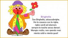 Filastrocche con cornice Carnevale: Brighella
