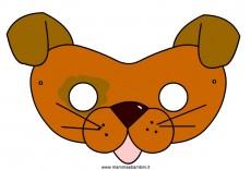 Carnevale maschere da ritagliare: cane