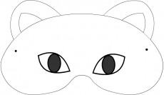 Carnevale maschere da colorare: la gatta