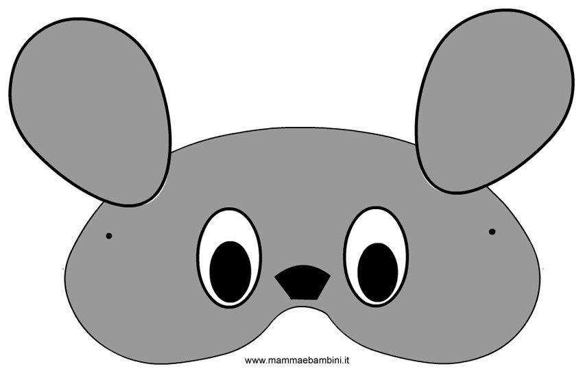 Carnevale maschere da ritagliare: topolino