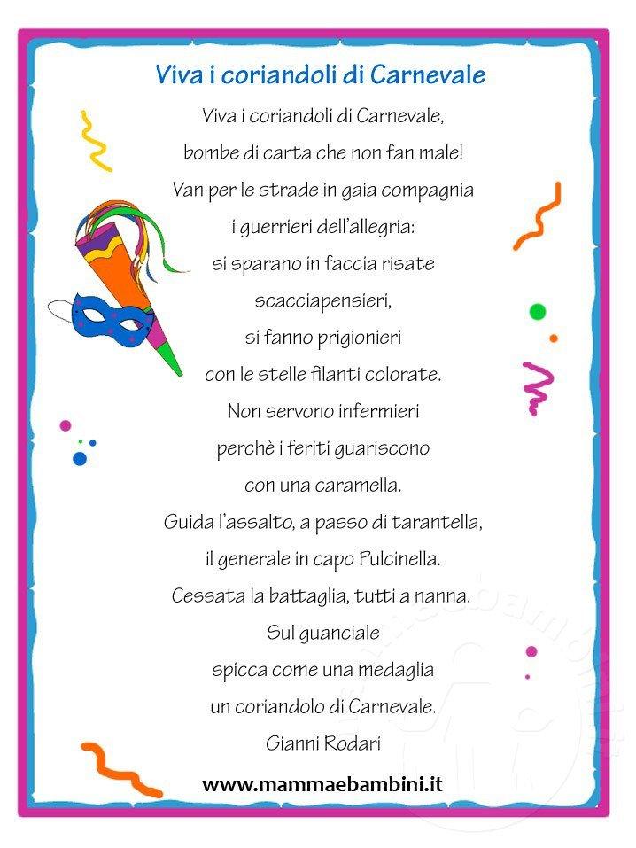 Preferenza Filastrocche con cornice, Viva i coriandoli di Carnevale - Mamma e  DQ83