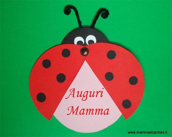 Amato Biglietto a coccinella: lavoretto con cartoncini - Mamma e Bambini NP73