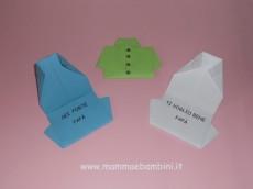 Origami biglietto a camicia con scritta