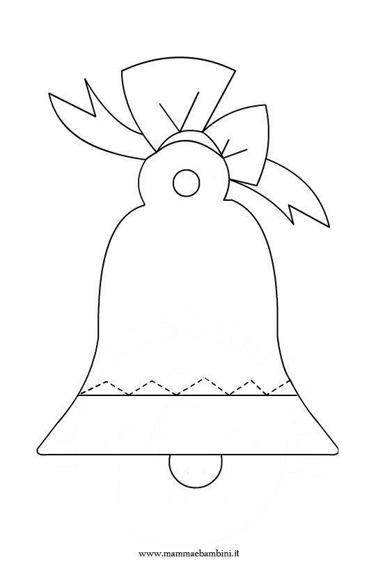 Pasqua: disegno campana da colorare