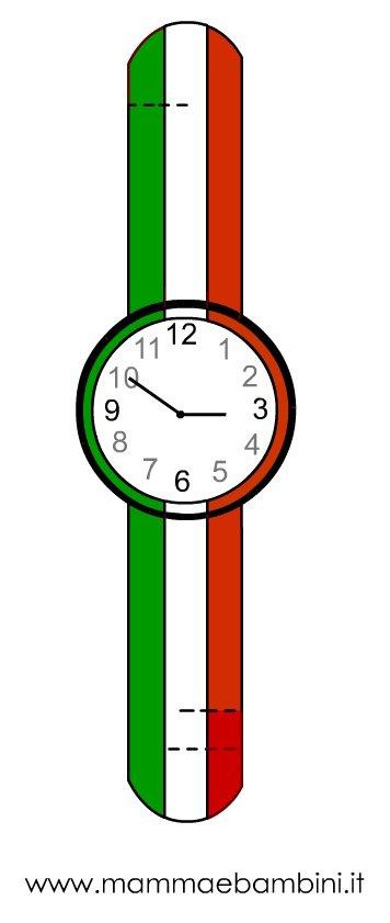 Orologio da stampare per i 150 anni dell'Unità d'Italia