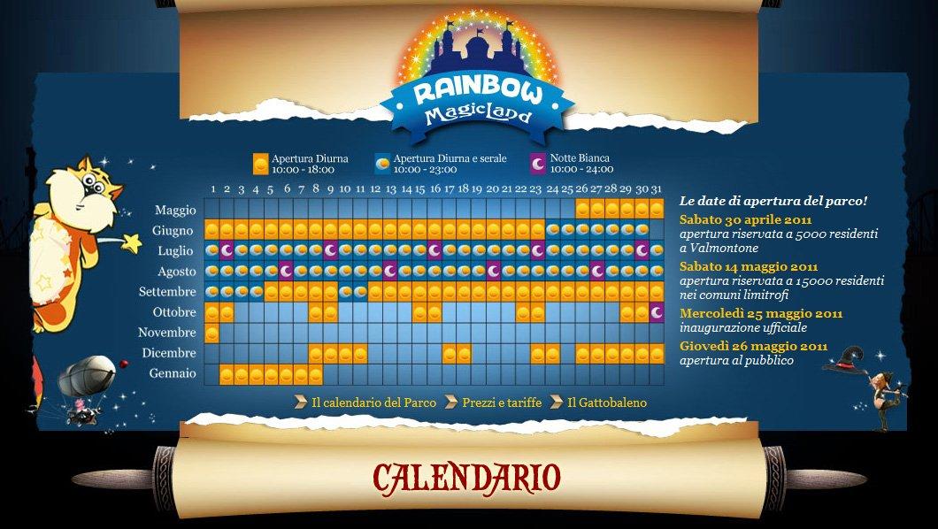 Rainbow Magicland orari e prezzi 2011