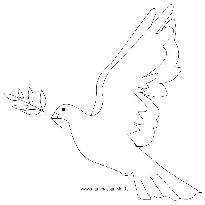 Disegno colomba da colorare
