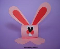 Lavoretti Pasqua: portatovagliolo a coniglio