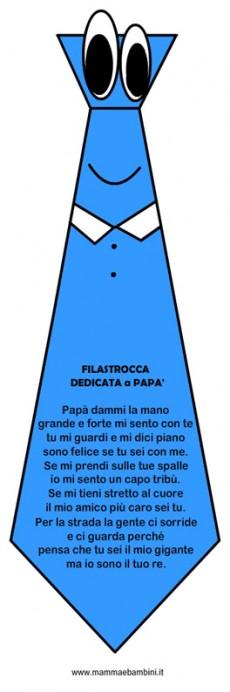 Filastrocca per la Festa del Papà con la cravatta