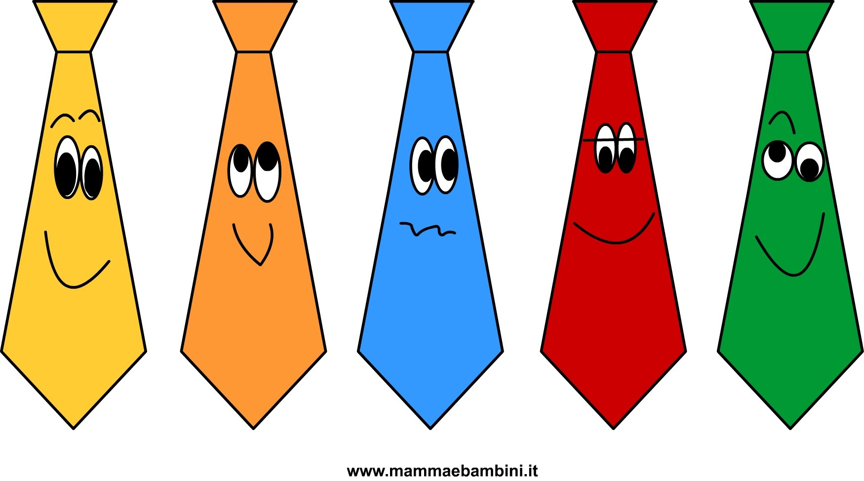 Segnalibri a cravatta per la Festa del Papà