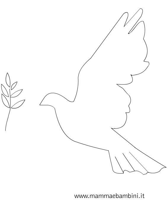 Pasqua: sagoma colomba da stampare