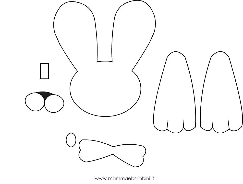 Coniglio un lavoretto per pasqua facile e veloce mamma for Coniglio disegno per bambini