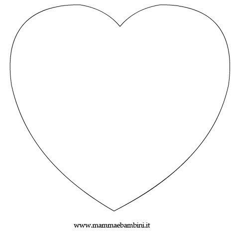 Lavoretti: biglietto a forma di cuore - Mamma e Bambini