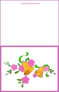 Biglietto Pasqua da stampare con le campane