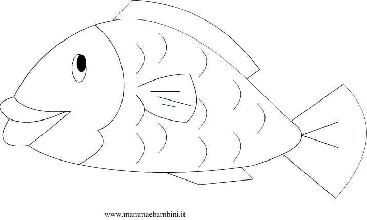Pesce d aprile da colorare mamma e bambini for Immagini di pesci da disegnare