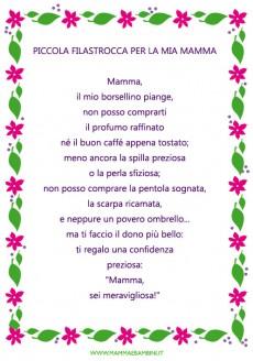Attestato sull amicizia mamma e bambini for Maestra sandra pasqua
