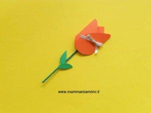 Festa della mamma: un biglietto a forma di fiore