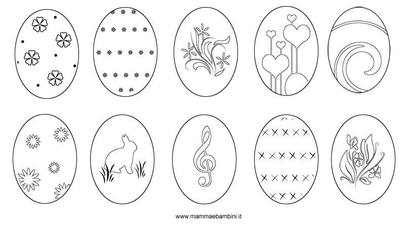 disegni decorazioni uova in PDF