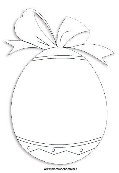 Pasqua: disegno uovo da colorare