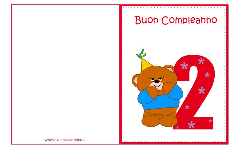 Famoso Biglietti compleanno per bambini da stampare - Mamma e Bambini SN59