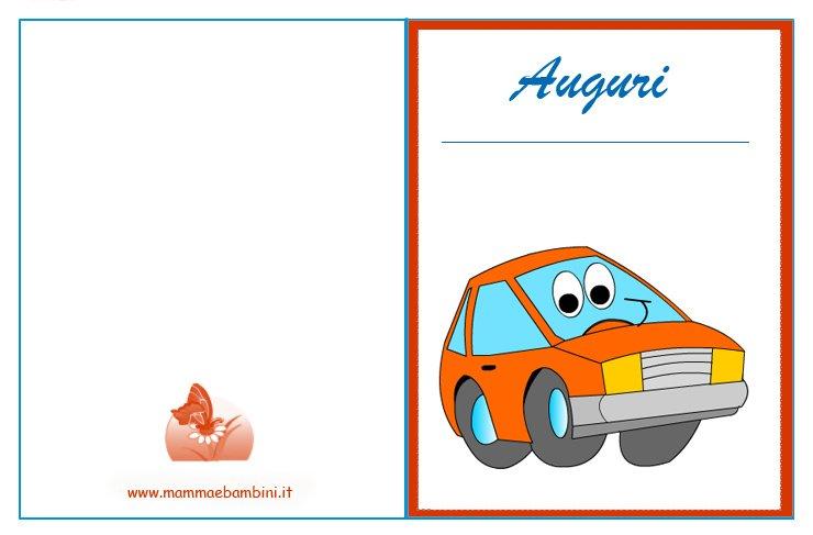 Preferenza Biglietto auguri compleanno con macchina - Mamma e Bambini GQ22