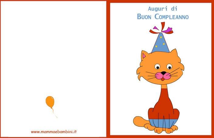 Conosciuto Biglietti compleanno per bambini da stampare - Mamma e Bambini PV69