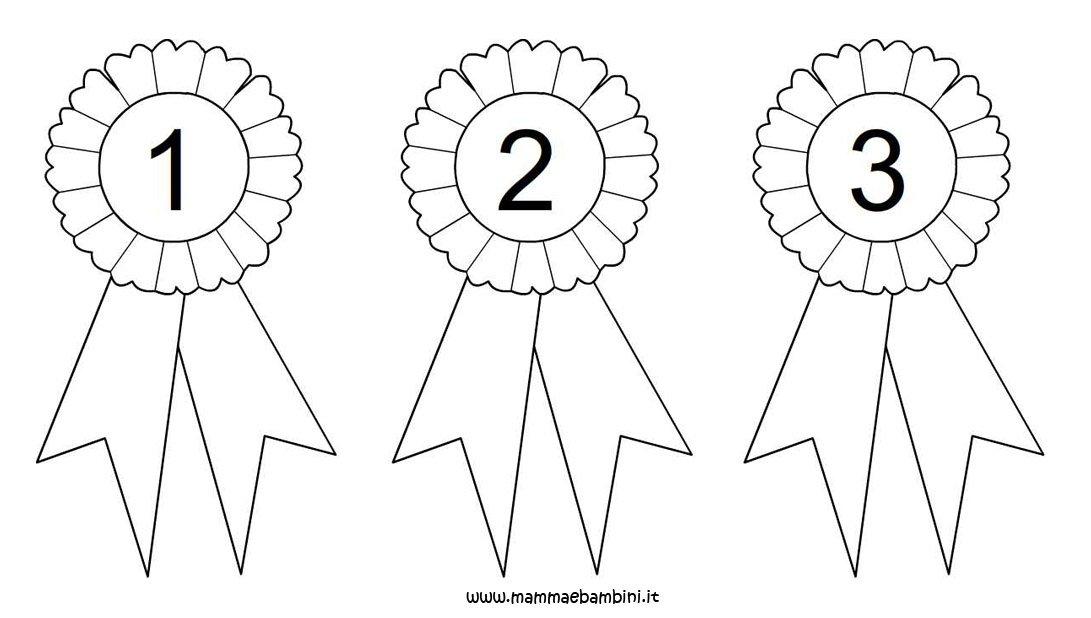 Top Coccarda da colorare con numeri 1, 2 e 3 - Mamma e Bambini FZ44