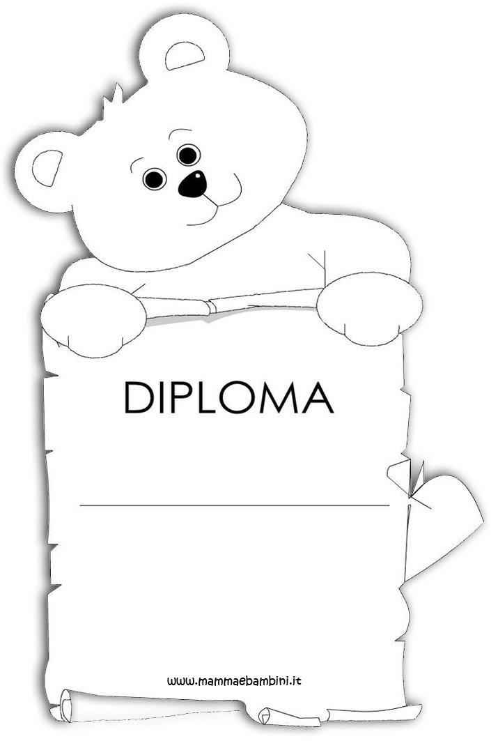 Diploma per i bambini da stampare