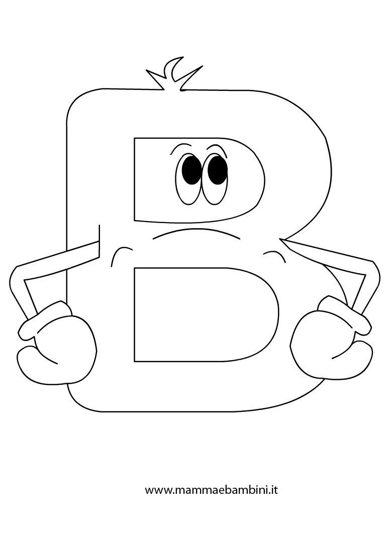 Alfabetiere per bambini da stampare la b mamma e bambini for Immagini di clown da colorare