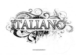 Copertina quaderno italiano da stampare