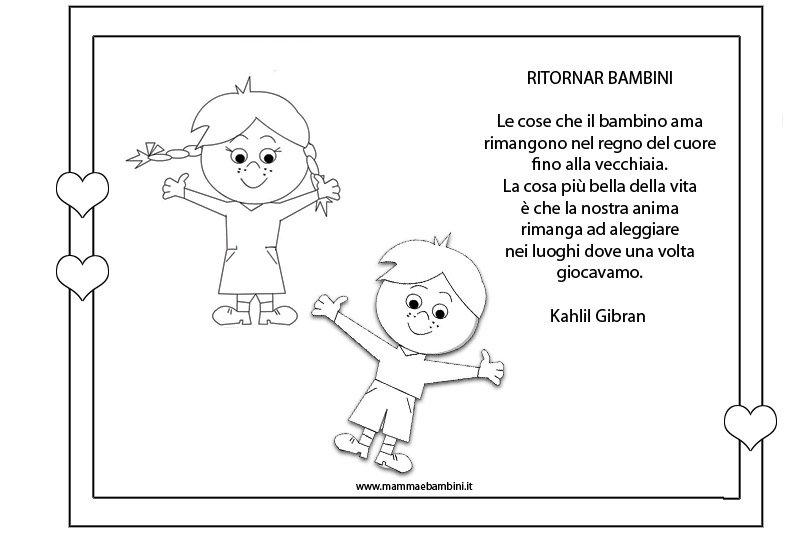Attestato da colorare per i bambini - Mamma e Bambini