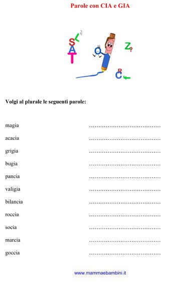 esercizi italiano