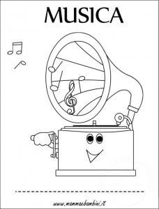 Copertina quaderno musica da colorare