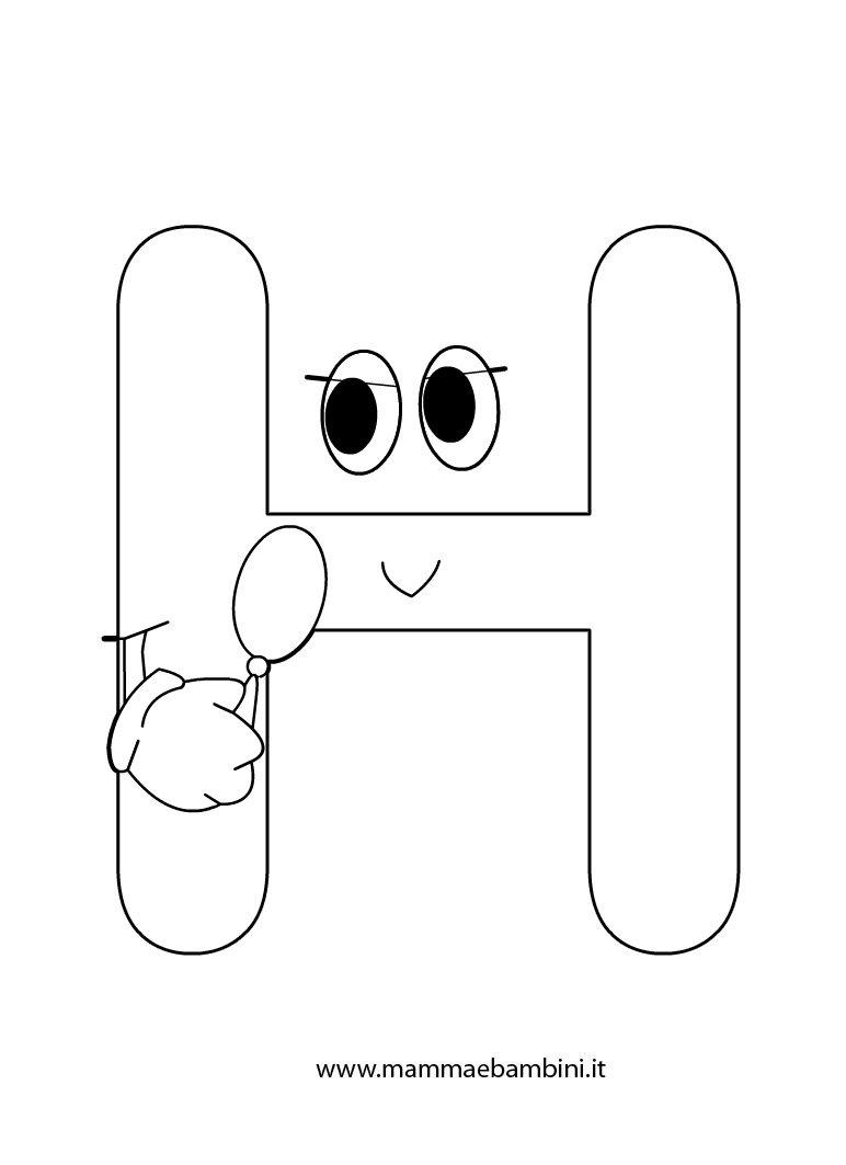Amato Alfabetiere da stampare e colorare: la H - Mamma e Bambini ZO75