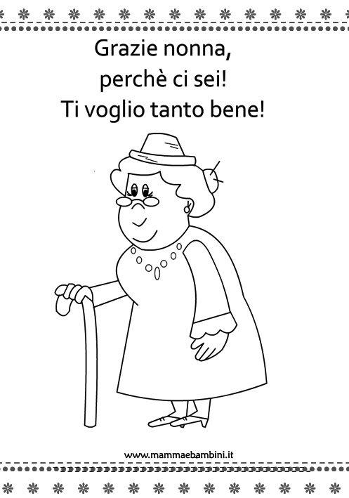 Extrêmement Lavoretto: disegno nonna da colorare - Mamma e Bambini PP99