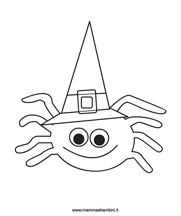 Halloween disegno ragno da colorare mamma e bambini Disegni halloween da colorare gratis
