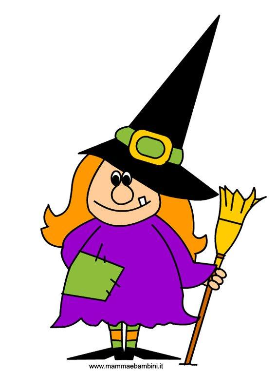 Halloween Disegno Strega Da Stampare Mamma E Bambini