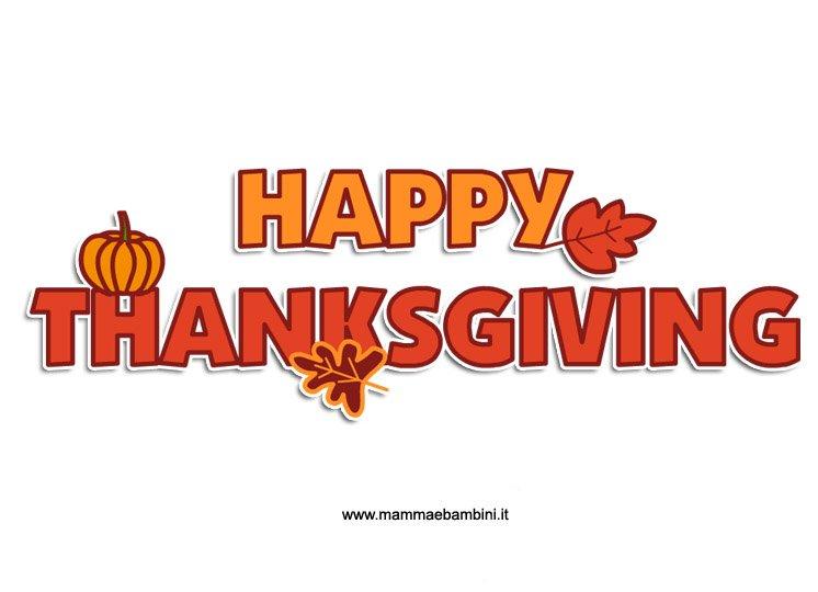 Scritta Happy Thanksgiving da stampare
